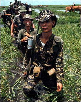 the guerrilla warfare in vietnam Vietnam employed guerrilla tactics in fighting against america and that guerrilla warfare was not consistent with the laws of war and put civilian population at risk .